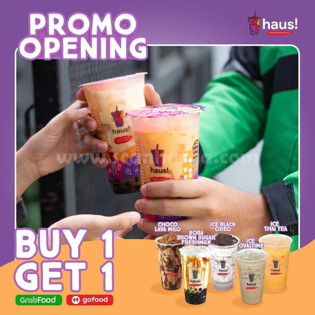 HAUS! JOGJA & Serang Opening Promo Beli 1 Gratis 1