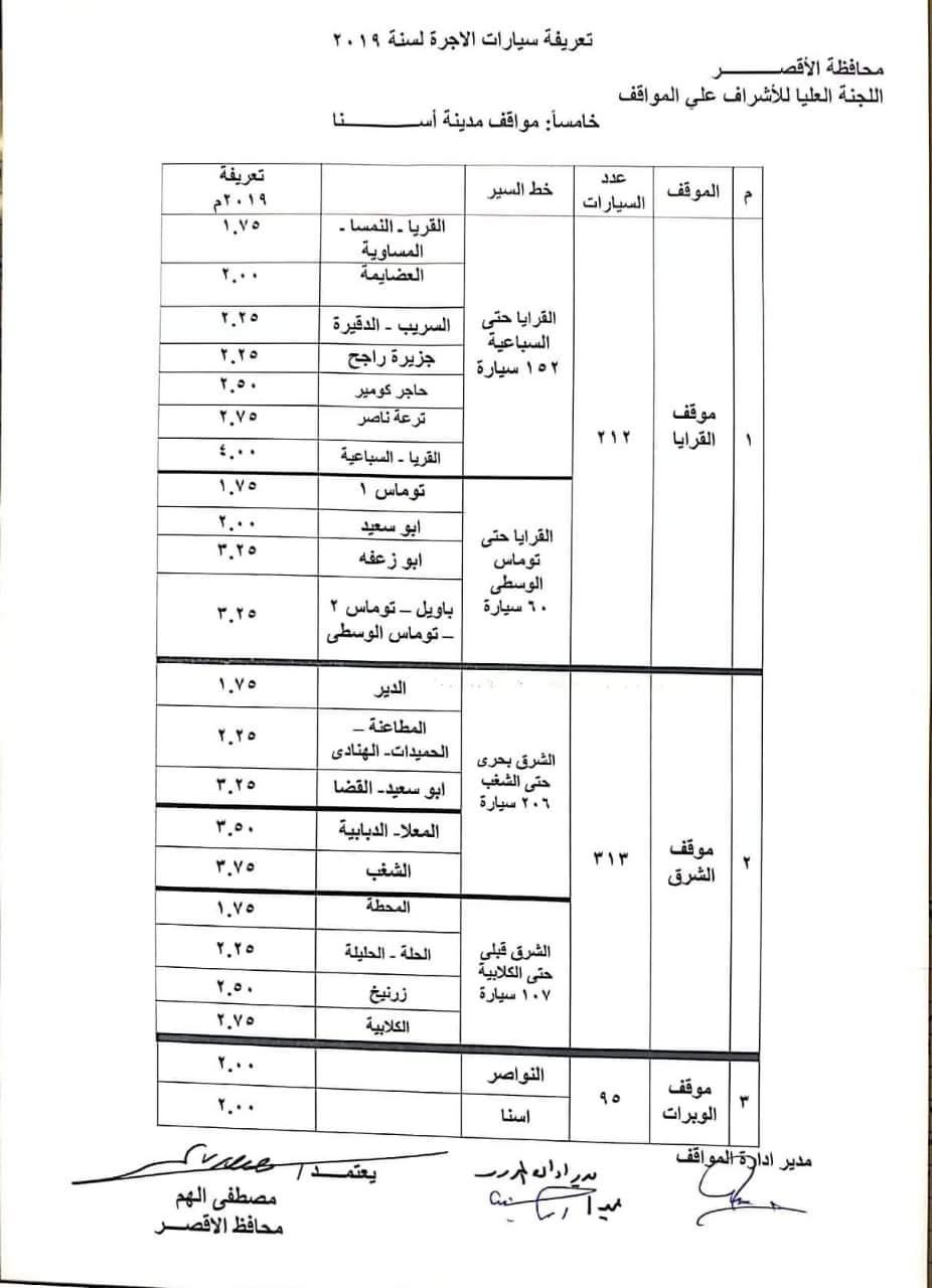 ننشر التعريفه الجديده للمواصلات داخل وبين المدن المصرية بعد زياده اسعار الوقود بجميع المحافظات FB_IMG_1562330347636