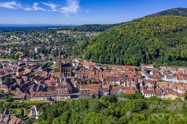 château de l'Engelbourg… une vue imprenable sur la ville de Thann