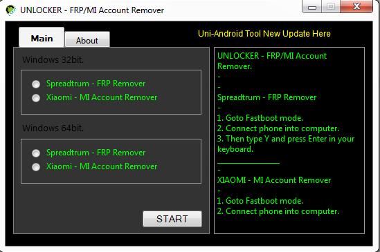 Spreadtrum FRP & Xiaomi MI Account Unlocker Tool  Free Download