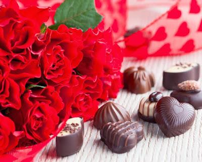 خلفيات ورد جوري مع شوكولاته