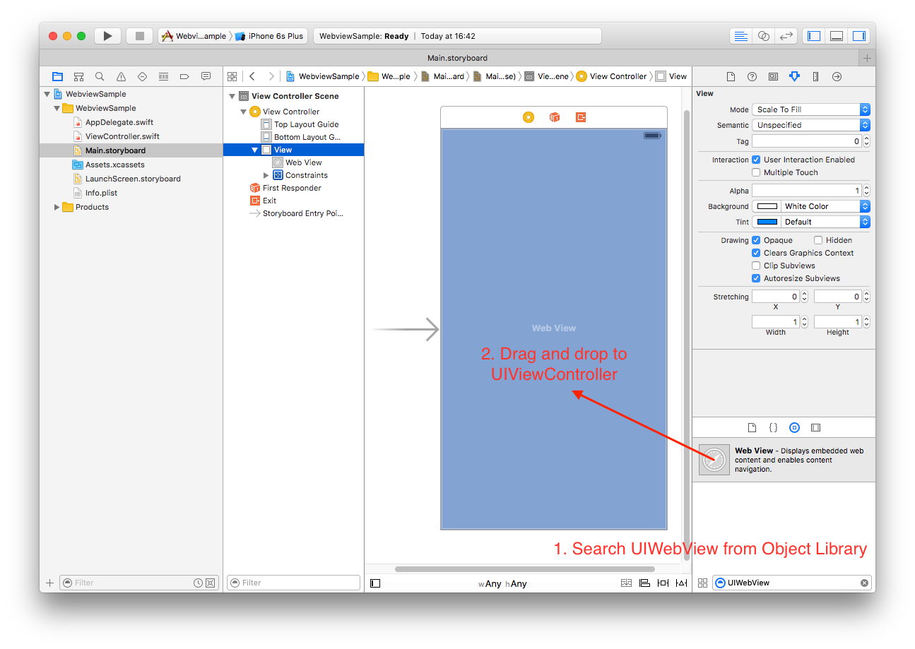 Creating a simple browser with UIWebView in Swift. - iOSDevCenter