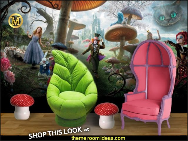 alice in wonderland bedroom furniture  Alice in Wonderland Wallpaper Mural  mushroom furniture  Alice in Wonderland bedroom decor - Alice in wonderland themed rooms - design  an Alice in Wonderland Bedroom  - Alice in Wonderland bedroom ideas - Alice in Wonderland bedding - Alice in Wonderlnd wall decals - Alice in Wonderland wall murals - alice in wonderland wallpaper mural -  tea party theme