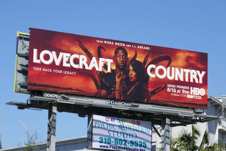 Lovecraft Country series launch billboard