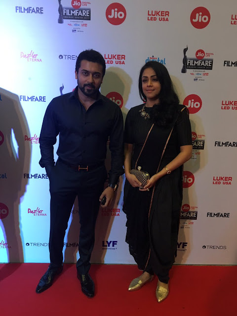 Suriya and Jyotika look gorgeous on the red carpet of Jio Filmfare Awards (South) 2017