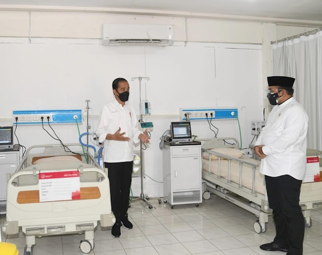 Presiden Jokowi: Rumah Sakit Asrama Haji Beroperasi Besok