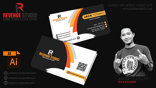 Cara Desain Business Card di Adobe Illustrator CC | Revenge Studio
