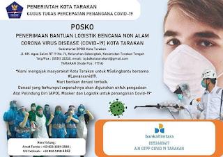 Posko Penerimaan Logistik Bencana Non Alam COVID-19 Kota Tarakan - Tarakan Info