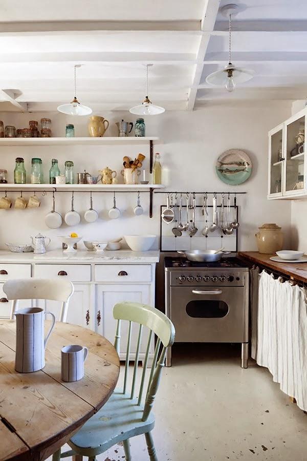 wystrój wnętrz, wnętrza, home decor, dom, mieszkanie, aranżacja, vintage, shabby chic, kuchnia