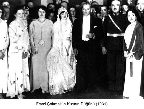Atatürk Fevzi Çakmak 'ın Kızının Düğünü 1931 Fotoğraf