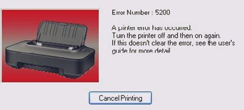 Peringatan Error 5200