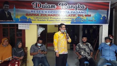 Reses, Zulhardi Z Latif Ingatkan Warga Pesan Mendagri dan Wali Kota Padang