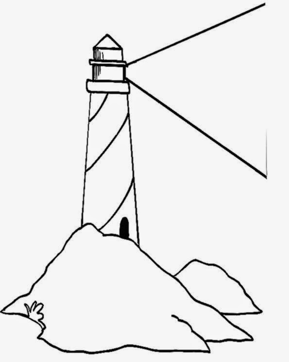Lighthouse Coloring Page 2