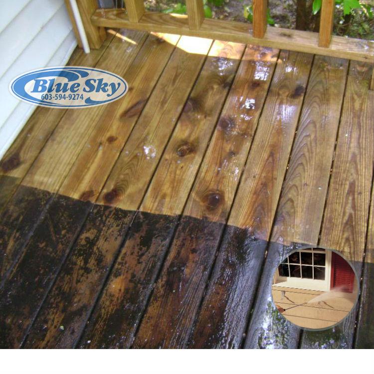 Pressure Washing Sun Decks & Wood
