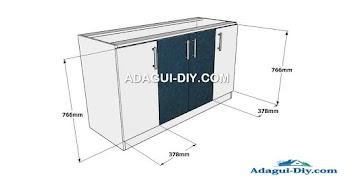 Mueble de cocina como armar módulo aéreo básico de melamina   Adagui ...