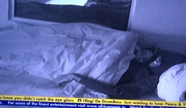 #BBNaija: Sammy and Angel cuddle in bed (video)
