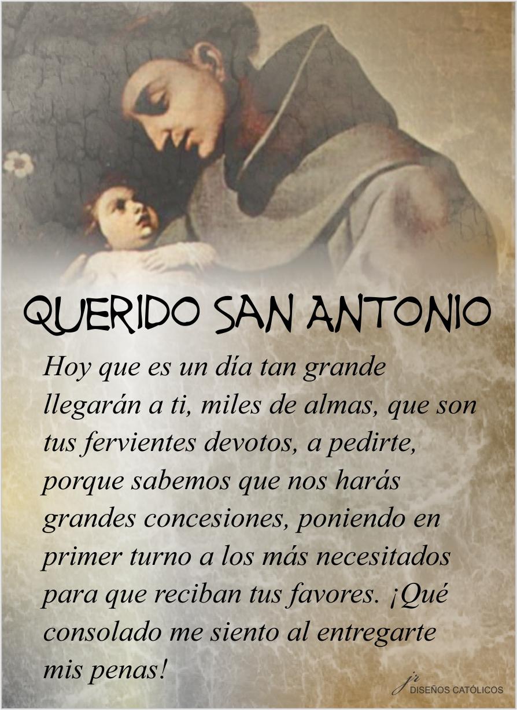 Tarjetas Y Oraciones Catolicas San Antonio De Padua