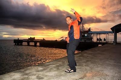 Sunset yang indah di Pulau Pramuka