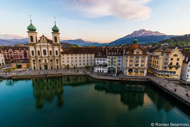 View from Hotel des Balances Room Balcony Two Days in Lucerne Luzern Switzerland