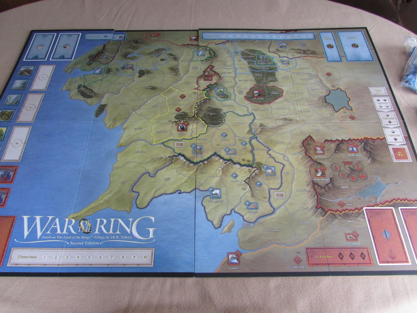 War of the ring 2nd edition a wargamers needful things i suspect that the map is the key aspect that will draw conflicting opinions between this second edition and the first edition gumiabroncs Choice Image