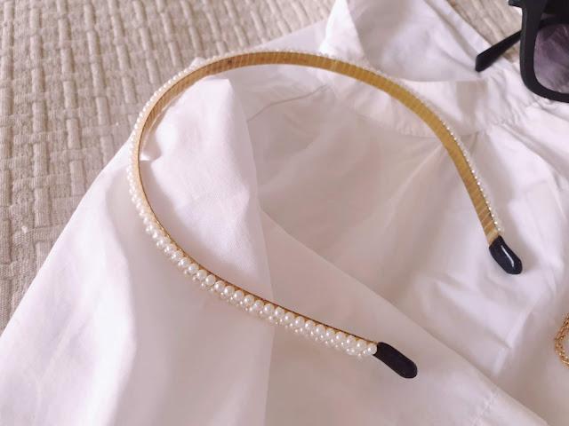Zara seed pearl headband