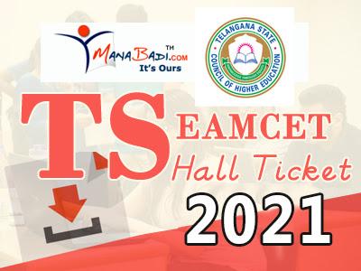 Telangan Eamcet Halltickets 2021