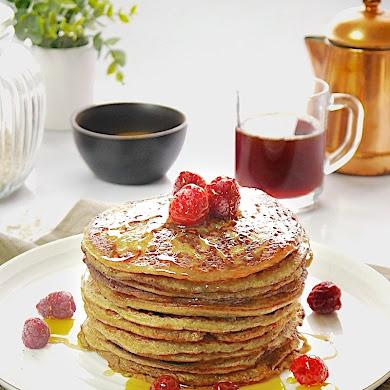 Crêpes Pancakes aux Bananes et à l'Avoine Sans Gluten