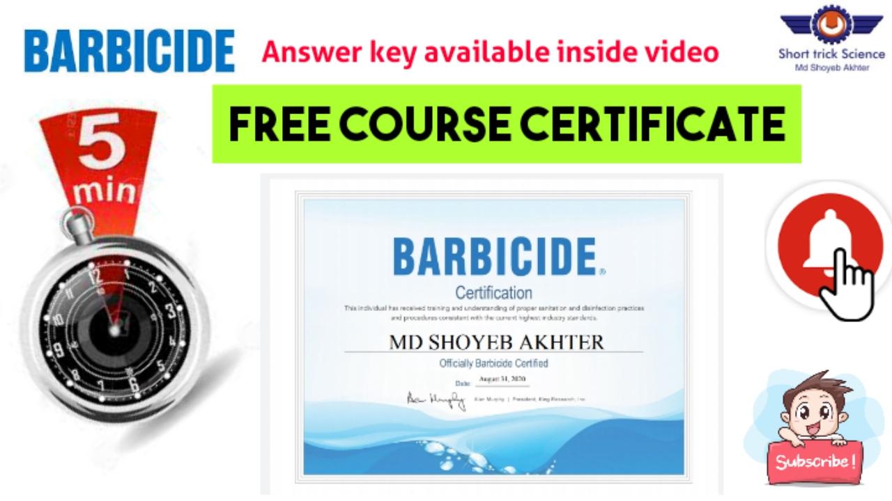 barbicide certificate link courses
