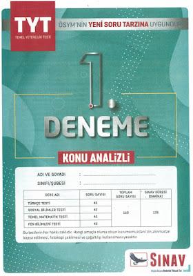 Sınav Yayınları TYT Denemesi Konu Analizli Deneme 1 Cevap Anahtarı indir