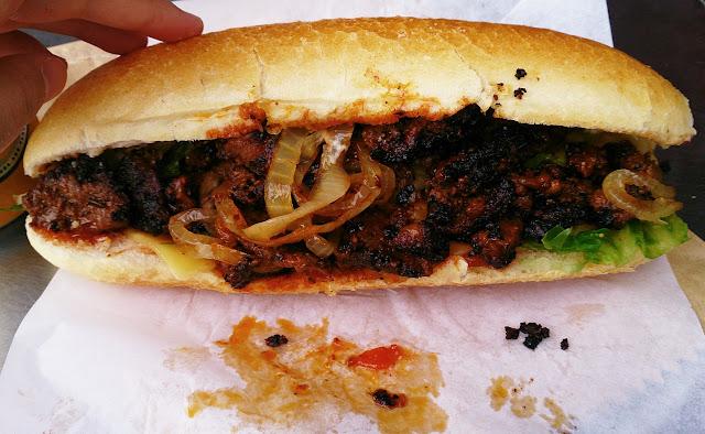 Meatworks Steak Out, Brighton, steak roll
