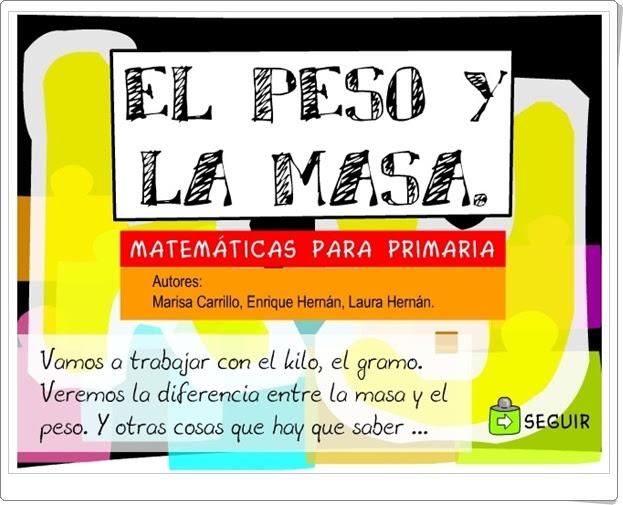 EL PESO Y LA MASA (Aplicación Interactiva de Matemáticas de Primaria)
