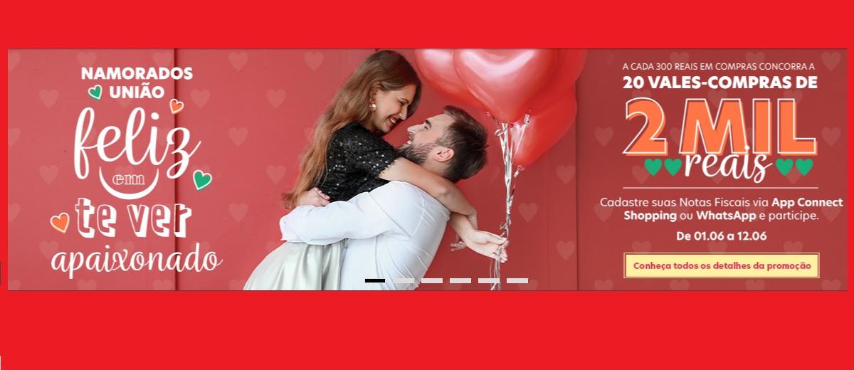 Promoção Dia dos Namorados União Osasco 2021 - Vales-Compras 2 Mil Reais