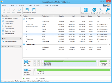 EaseUS Partition Master v15.8 + WinPE ISO