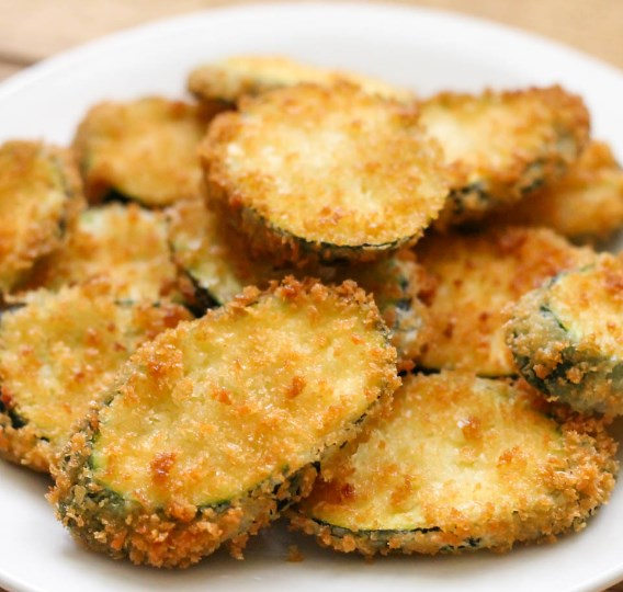 FRIED ZUCCHINI #vegetarian #appetizers