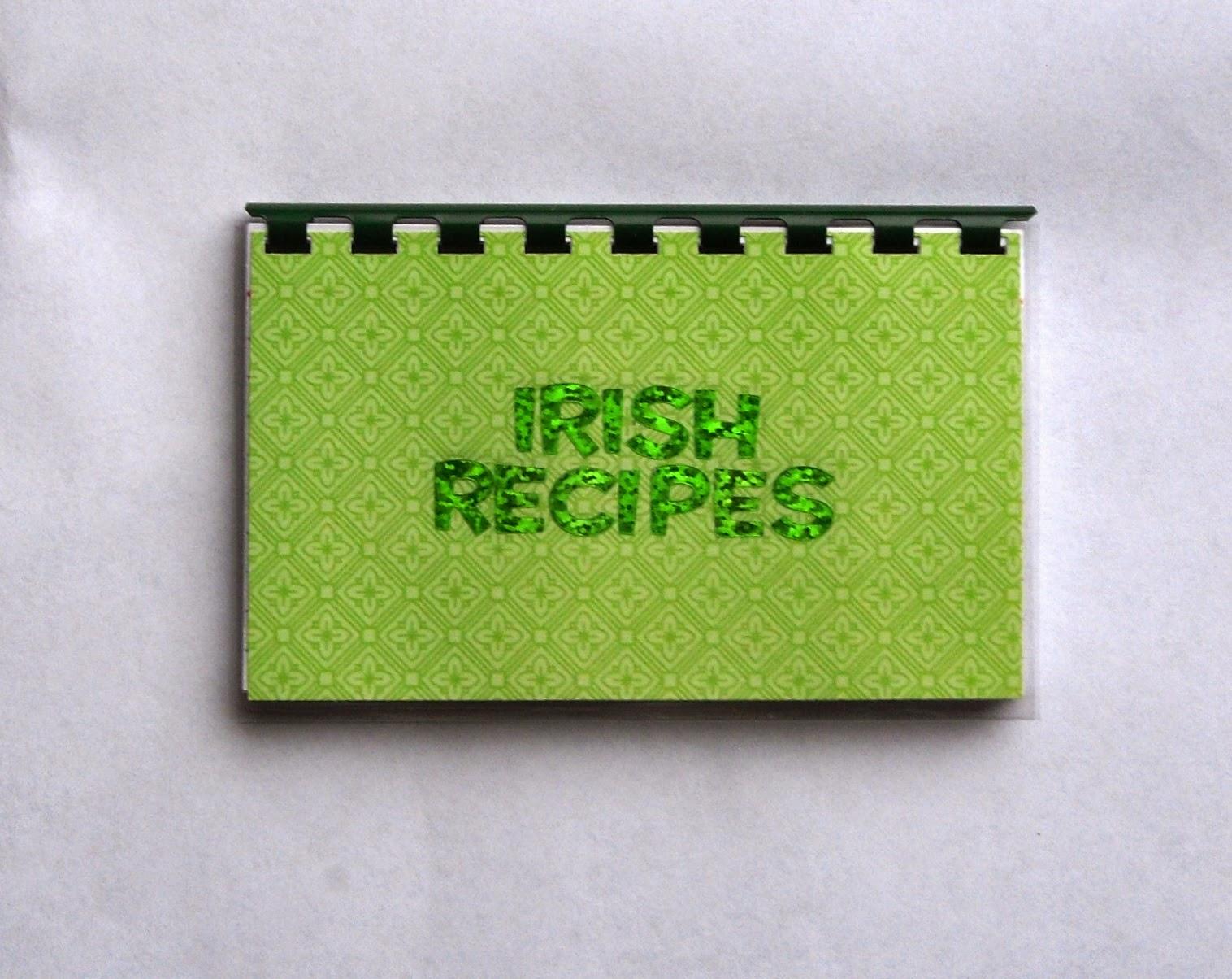 Irish blank recipe book