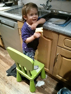 helping wash up