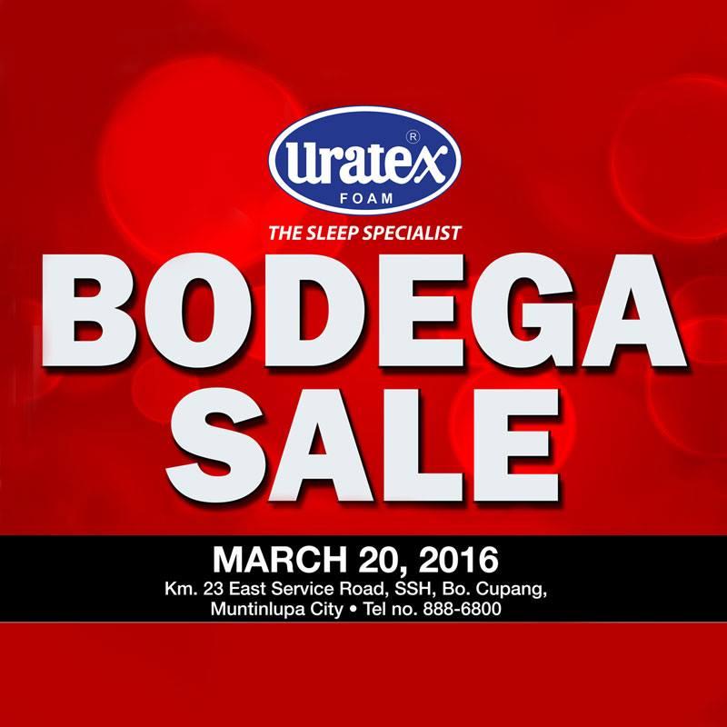 c661824f1aeeb Uratex Alabang Bodega SALE  March 20 2016