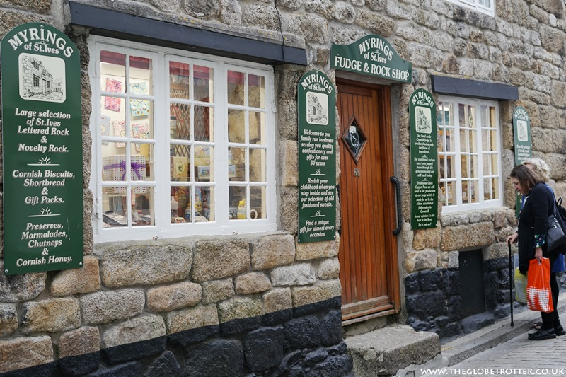 Fudge shop in St Ives