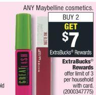 FREE Maybelline Mascara CVS Deal 8/16-8/22
