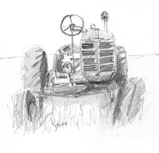 art sketch pencil graphite farmall vintage offset