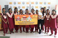 Actress Priya Anand in T Shirt with Students of Shiksha Movement Events 03.jpg
