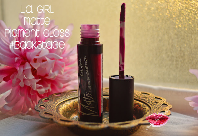 L.A. Girl, LA Girl Matte Flat Finish Pigment Gloss in Backstage
