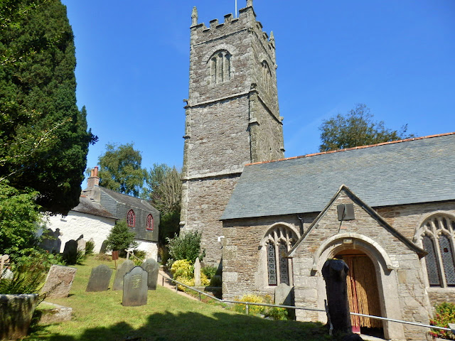 View of St. Clement church, Cornwall - The church oc Moresk