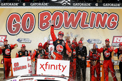Christopher Bell celebrates in Victory Lane (Richmond, Virginia)
