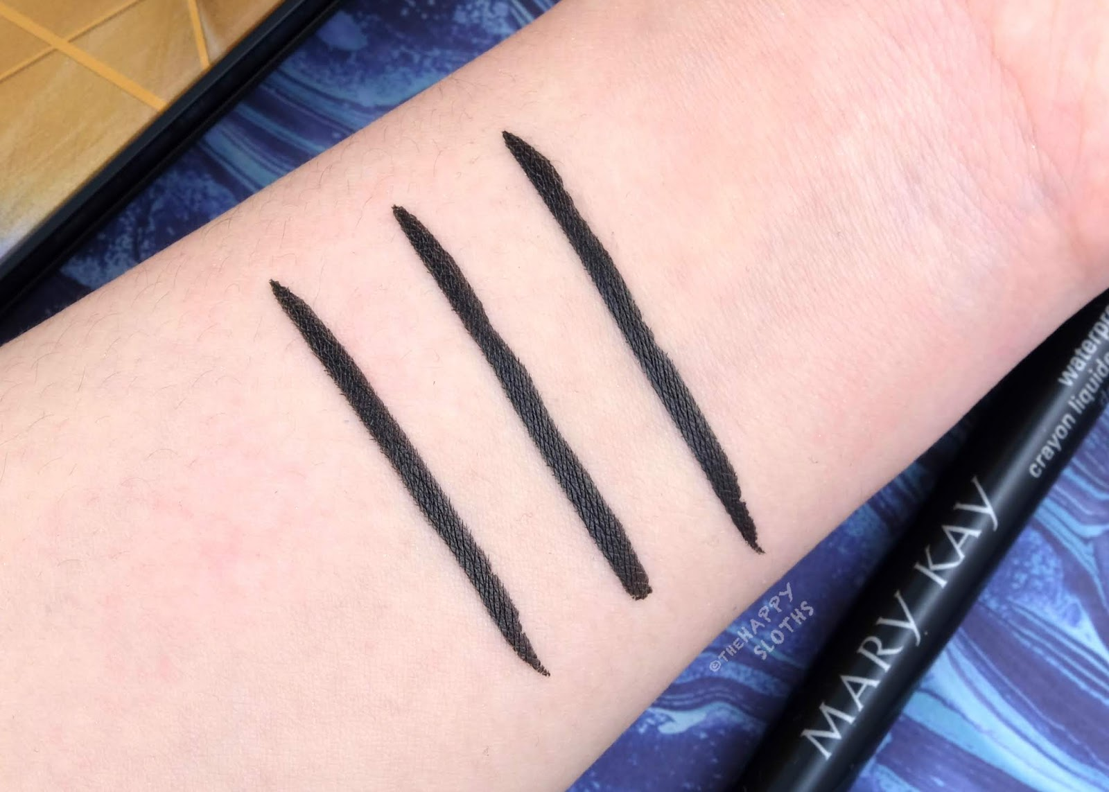 Mary Kay   Spring 2020 Waterproof Liquid Eyeliner: Review and Swatches