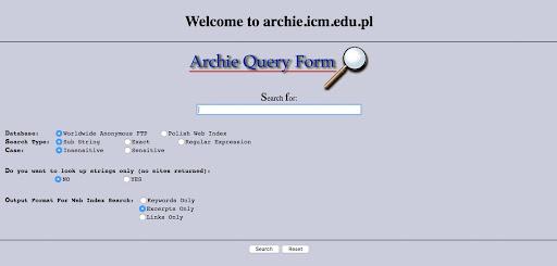 Archie Primer Motor de Busqueda de Internet
