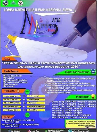 Lomba Karya Tulis Ilmiah SMA Sederajat PPiPM Fair 2018 di UNP