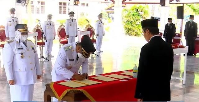 Kasmarni dan Bagus Santoso Resmi Jabat Bupati dan Wakil Bupati Bengkalis