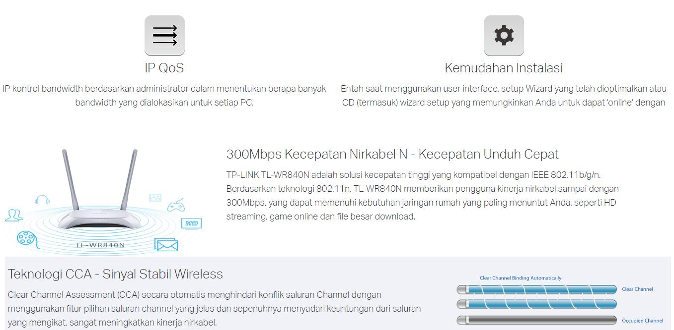 Tp Link Wifi Tl Wr840n 300mbps Wireless N Router Sinyal Jauh 300 Mbps Adalah Gabungan Kabel Jaringan Nirkabel Yang Dirancang Khusus Untuk Kebutuhan Usaha Kecil Dan Rumahan