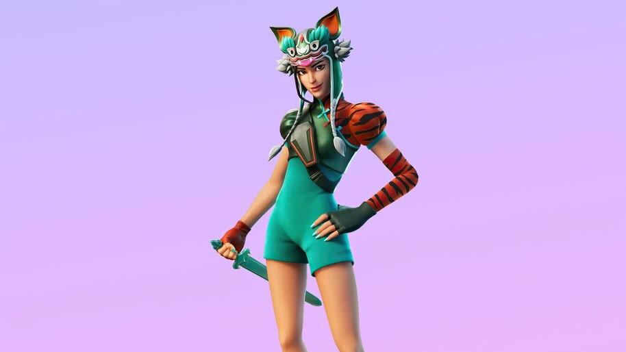 Tigeress, Fortnite, Lunar New Year, Skin, Outfit, 4K, #7.900